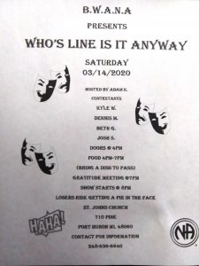 """BWANA Presents """"Who's Line Is It Anyway"""" @ St. Johns Church 