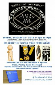 Capital Area - Newcomers NA Speakerjam & Spoken Word/Poetry Open Mic Night @ The Alano Club West