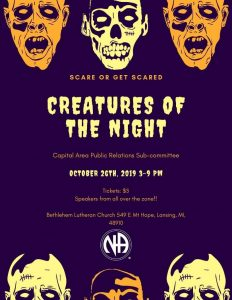 Creatures of the Night  NA Fundraiser for PR sub-committee @ Bethlehem Lutheran Church