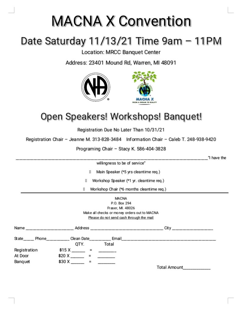 Macomb Areas Convention @ MRCC Banquet Center | Warren | Michigan | United States