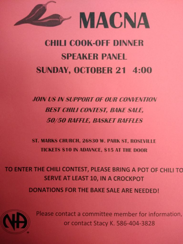 Chili Cook-Off & Speakers Panel @ St. Marks | Roseville | Michigan | United States