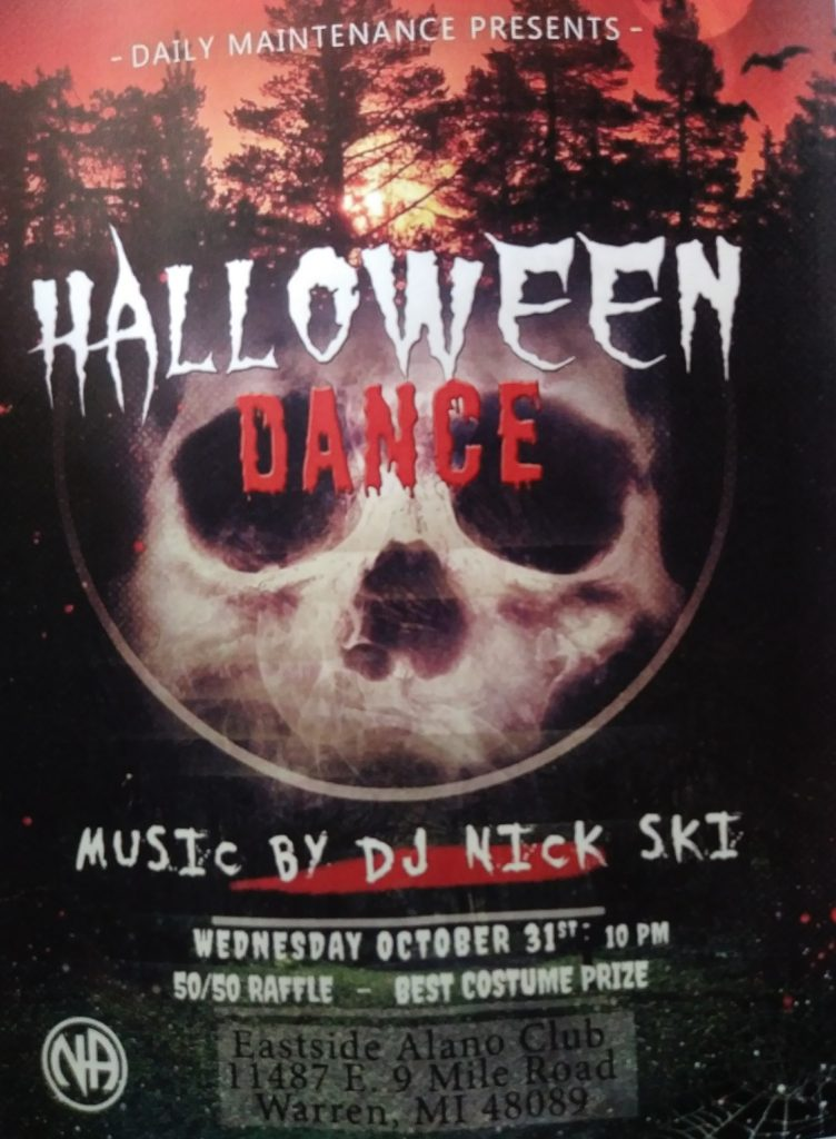 Halloween Dance @ Eastside Alano Club | Warren | Michigan | United States