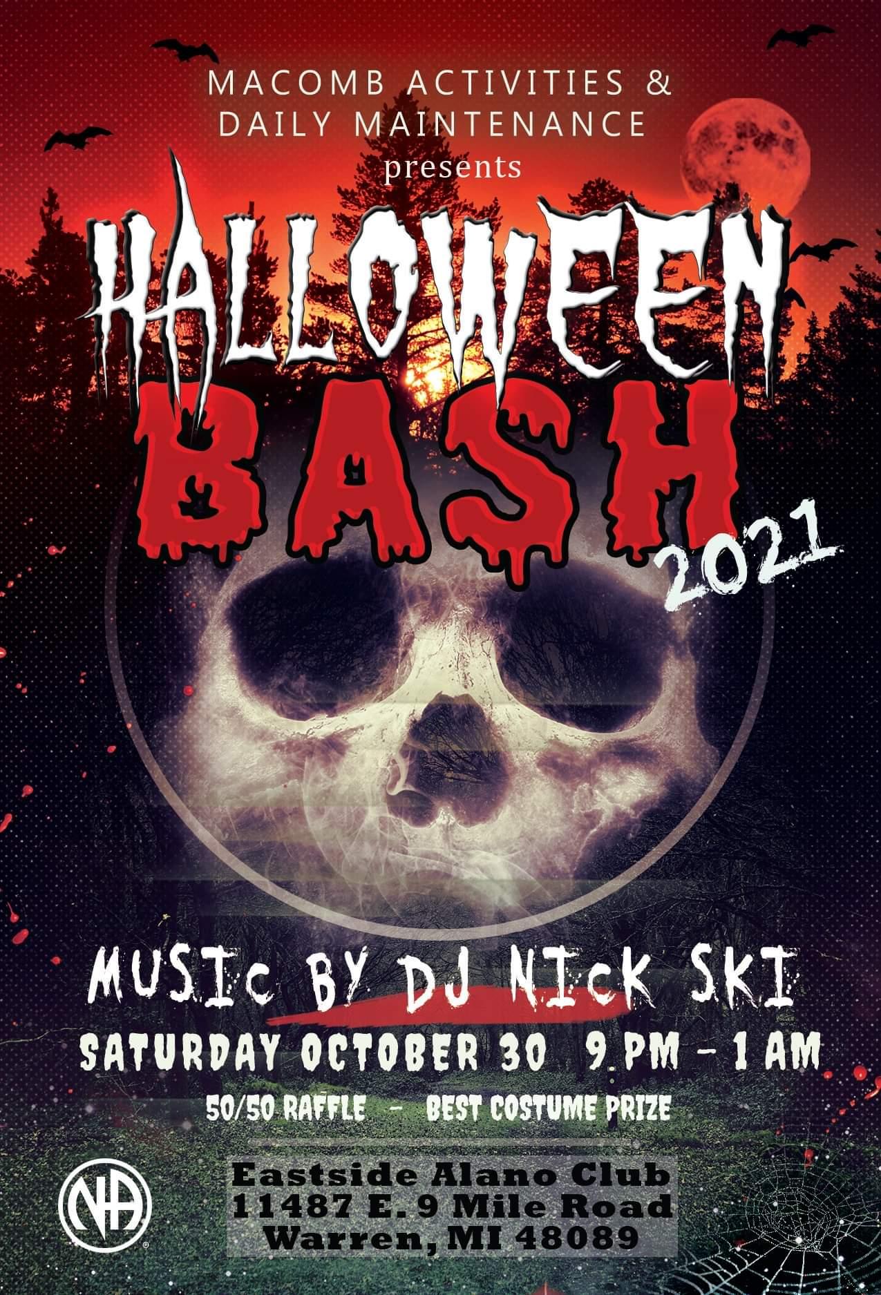Halloween Bash @ Eastside Alano Club | Warren | Michigan | United States