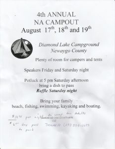 4th Annual NA Campout @ Diamond Lake Campground Newago County | White Cloud | Michigan | United States