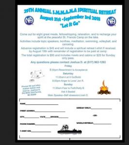 29th ANNUAL S.M.M.A.N.A. SPIRITUAL RETREAT @ Camp St. Francis | Jerome | Michigan | United States