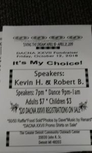 "DACNA XXVll Fundraiser  Speaker Dance   ""Its My Choice"" @ Greater Detroit Community Outreach Center 