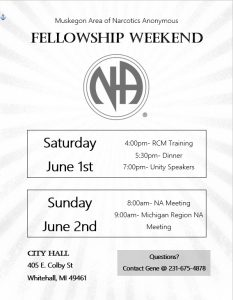 Fellowship Weekend RCM Training Dinner and Unity Speakers @ City Hall | Whitehall | Michigan | United States