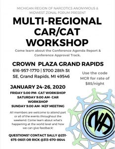 CAR/CAT WORKSHOP sponsored by Michigan Region  and MZF meeting on Sunday @ Crowne Plaza Grand Rapids | Grand Rapids | Michigan | United States