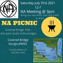 Acceptance Group annual NA PICNIC @ Covered Bridge Park | Three Rivers | Michigan | United States