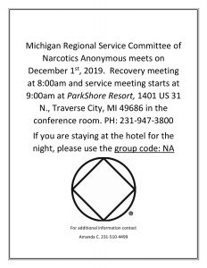 Region meets Dec 1 in Traverse City @ Parkshore Resort 9am @ Region at Parkshore Resort