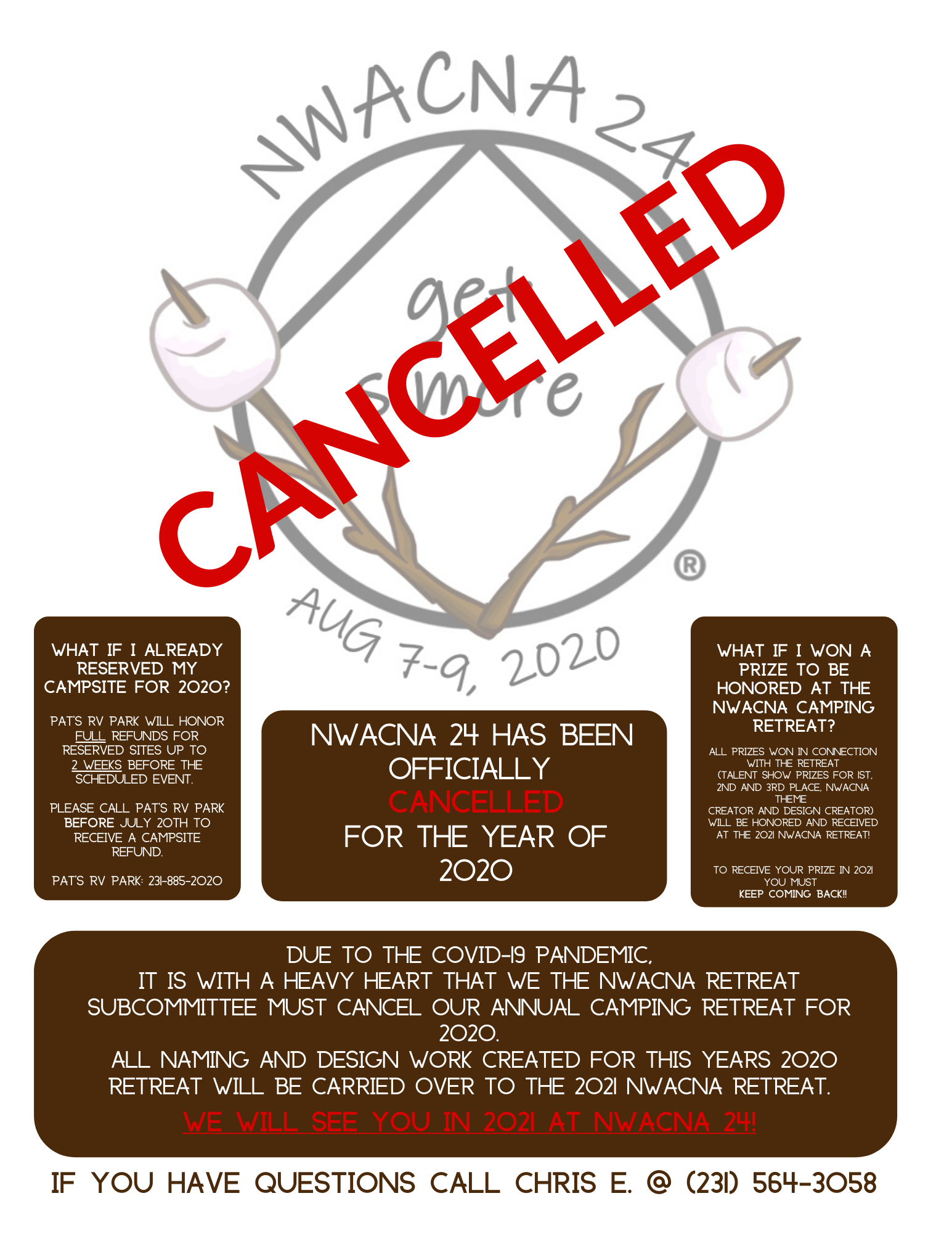 CANCELED NWACNA 24 is CANCELED because Covid-19 @ Pat's RV Park | Mesick | Michigan | United States