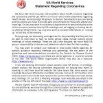 Coronavirus msg from NAWS