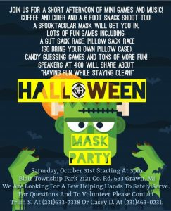 Halloween Mask Party @ Blair Township Park | Grawn | Michigan | United States
