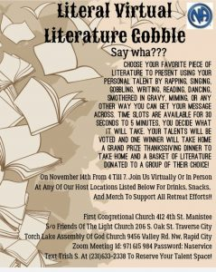 Literal Virtual, Literature Cobble, Say wha??? @ Held in Manistee Traverse City and Rapid City | Manistee | Michigan | United States