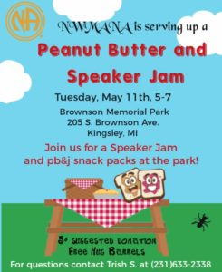 Peanut Butter and Speaker Jam @ Brownson Memorial Park | Kingsley | Michigan | United States