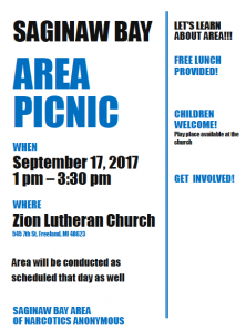 Area Picnic @ Zion Lutheran Church | Freeland | Michigan | United States