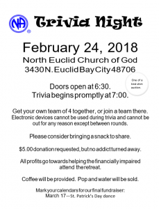 Trivia Night @ North Euclid Curch of God | Bay City | Michigan | United States