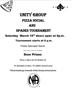 Unity Group Pizza Social  And  Spades Tournament