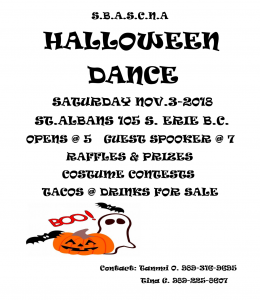Halloween Dance @ St. Albans | Bay City | Michigan | United States
