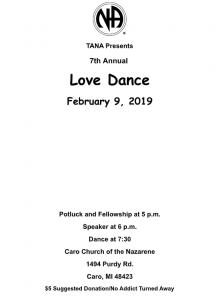 7th Annual Love Dance @ Caro Church of Nazarnee