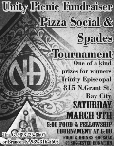 Unity Picnic Fundraiser Pizza Social & Spades Tournament @ Trinity Episcopal