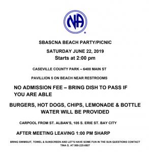 SBASCNA BEACH PARTY/PICNIC @ Caseville County Park