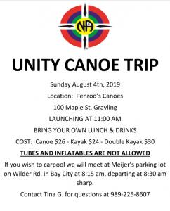 Unity Canoe Trip @ Penrod's Canoes | Grayling | Michigan | United States