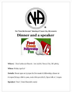 How We Recover - Dinner and a Speaker @ Zion Lutheran Church | Tawas City | Michigan | United States