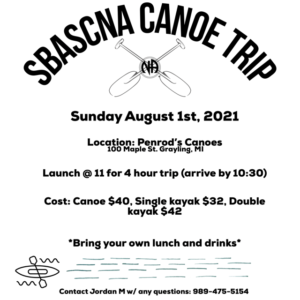 SBASCNA Canoe Trip @ Penrod's Canoes | Grayling | Michigan | United States