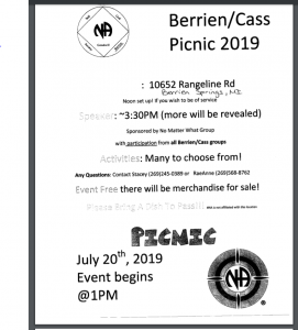 NO MATTER WHAT presents BERRIEN/CASS PICNIC 2019 @ Berrien Springs | Michigan | United States