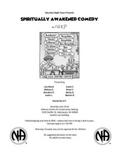 Saturday Night Fever Presents:    SPIRITUALLY AWAKENED COMEDY  and KP @ Gilmore Center For Community Healing | Kalamazoo | Michigan | United States