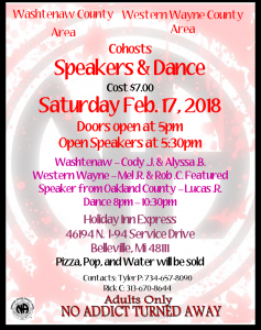 Washtenaw/Western Wayne Speakers and Dance @ Holiday Inn Express | Belleville | Michigan | United States
