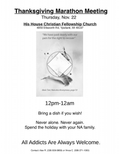 Thanksgiving Marathon Meeting @ His House Chrisitian Fellowship Church | Ypsilanti | Michigan | United States