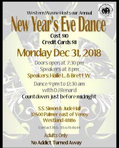 New Years Eve Dance @ S.S. Simon & Jude Hall | Westland | Michigan | United States