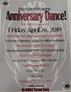 Anniversary Dance @ Taylor Senior Center