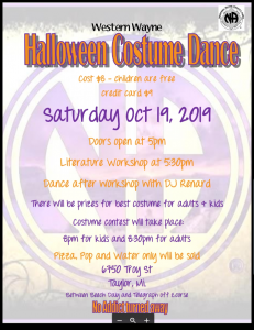 Halloween Costume Dance @ Taylor Senior Center