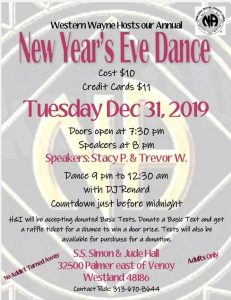 2019 New Year's Eve Dance @ S.S. Simon and Jude Hall