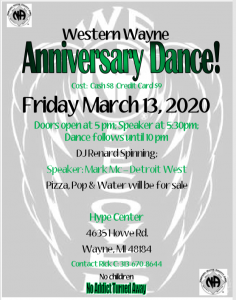Western Wayne Anniversary Dance @ Hype Center | Wayne | Michigan | United States