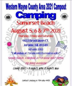 Western Wayne Area Campout! @ Western Wayne Campout - Somerset Beach   Jerome   Michigan   United States