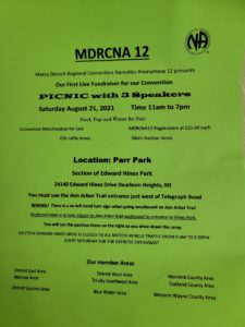 MDRCNA 12 Fundraiser Picnic @ Parr Park (Section of Edward Hines Park)   Dearborn Heights   Michigan   United States