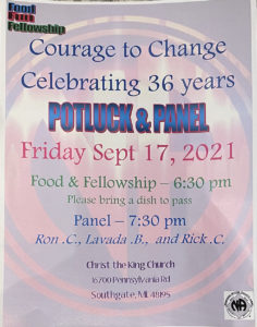Potluck & Panel - Courage to Change Meeting (36 years!) @ Christ the King Church